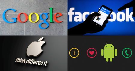 google facebook apple android